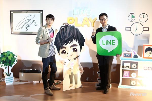 มร. ลี จิน วู ผู้จัดการทั่วไปฝ่ายธุรกิจ LINE และ LINE PLUS คอร์ปอเรชั่น พร้อมด้วย นิชคุณ