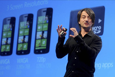 Joe Belfiore, corporate vice president of Microsoft, introduces the Windows Phone 8 mobile operating system in San Francisco