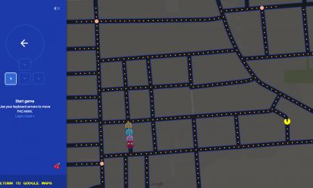 google-maps-pac-man