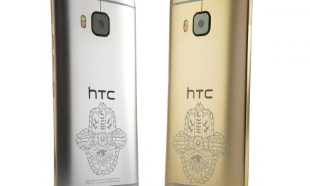 HTC ONE M9 INK GOLD HANDSET AND SILVER HANDSET LOW RES