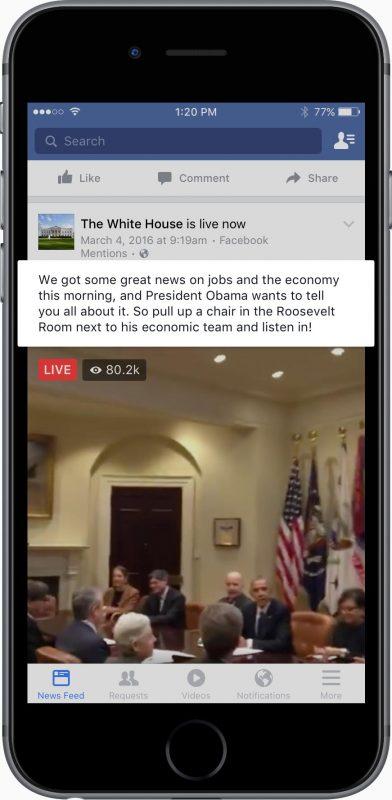 Facebook Live Desciption