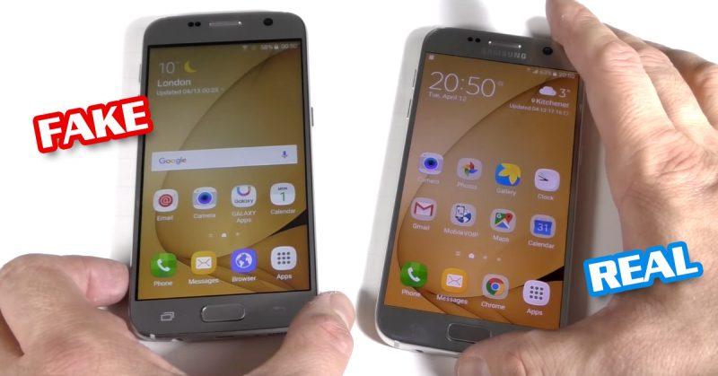 Galaxy S7 ปลอมหน้าจอจะสีซีดกว่า