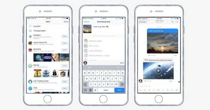 Dropbox share file in fb Messenger