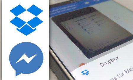 dropbox fb messenger sharing