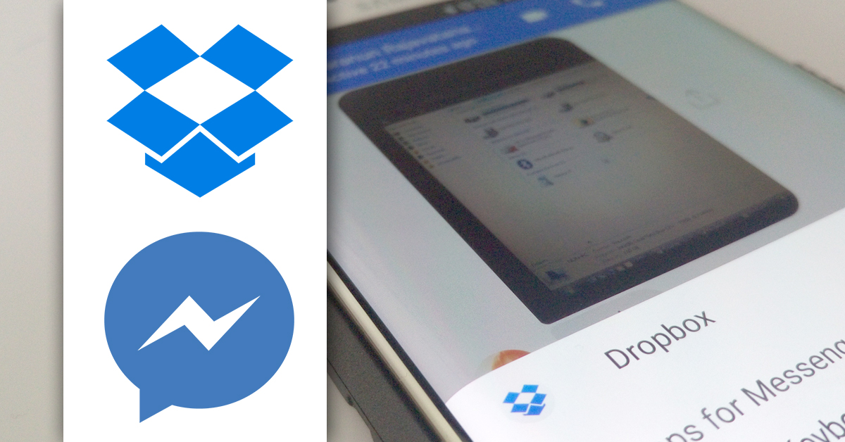 dropbox fb messenger sharing