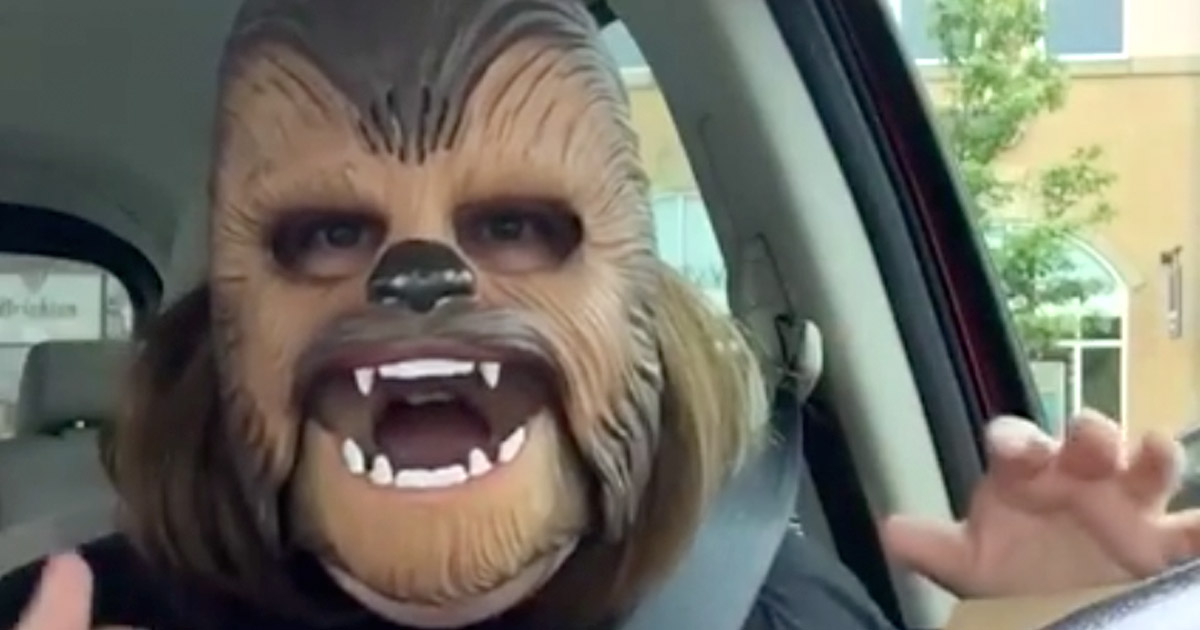 Chewbecca mask facebook