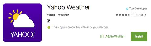 Yahoo Weather 1
