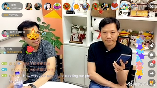 Lei Jun CEO Live Stream Xiaomi