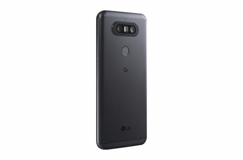 LG Q8 Back