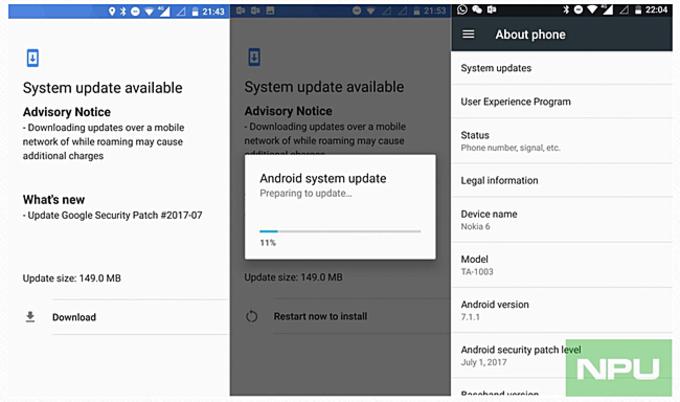 Nokia 6 July Patch Update