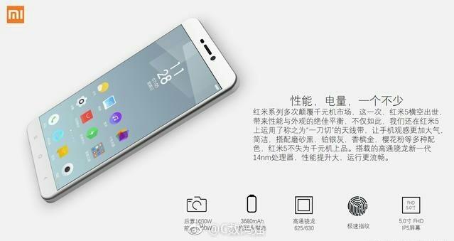 Xiaomi Redmi 5 spec