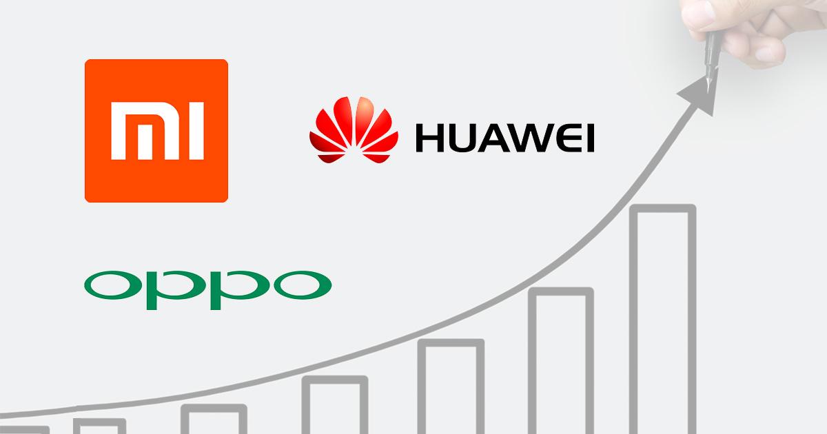 Oppo Xiaomi Huawei