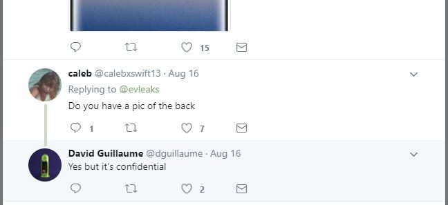 Note 8 Deep Sea Blue Twitter Post