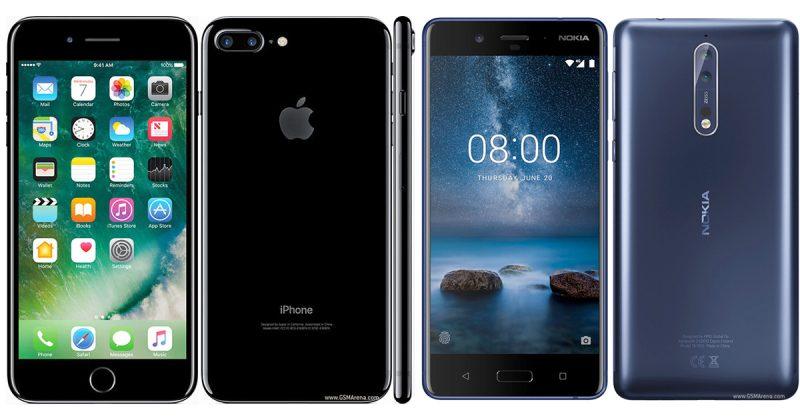 iPhone 7 Plus Nokia 8