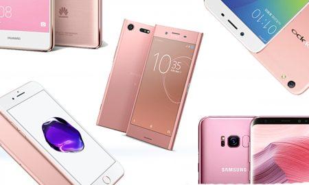 5 Pink Smartphones
