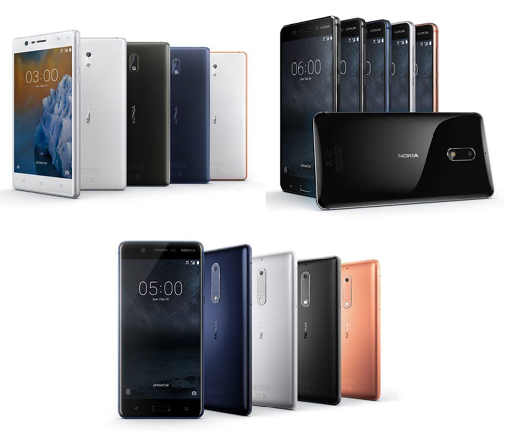 Nokia 3, 5, 6