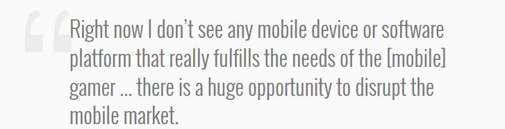 CEO Razer Said about smartphone