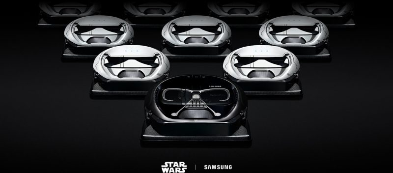 Samsung Powerbot & Samsung Galaxy Note 8 with star wars