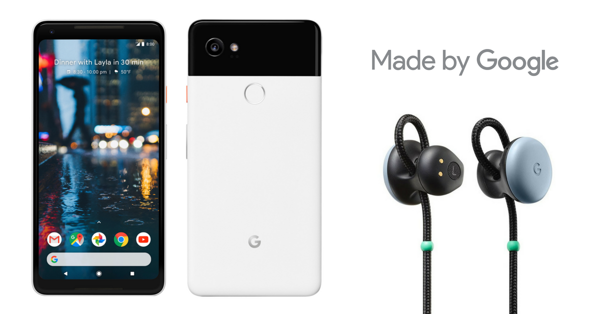 Google Pixel 2 with pixel buds