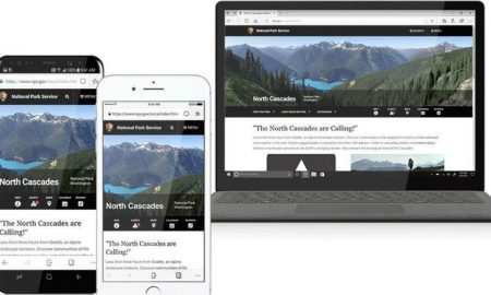 Microosft Edge Browser Mobile Header