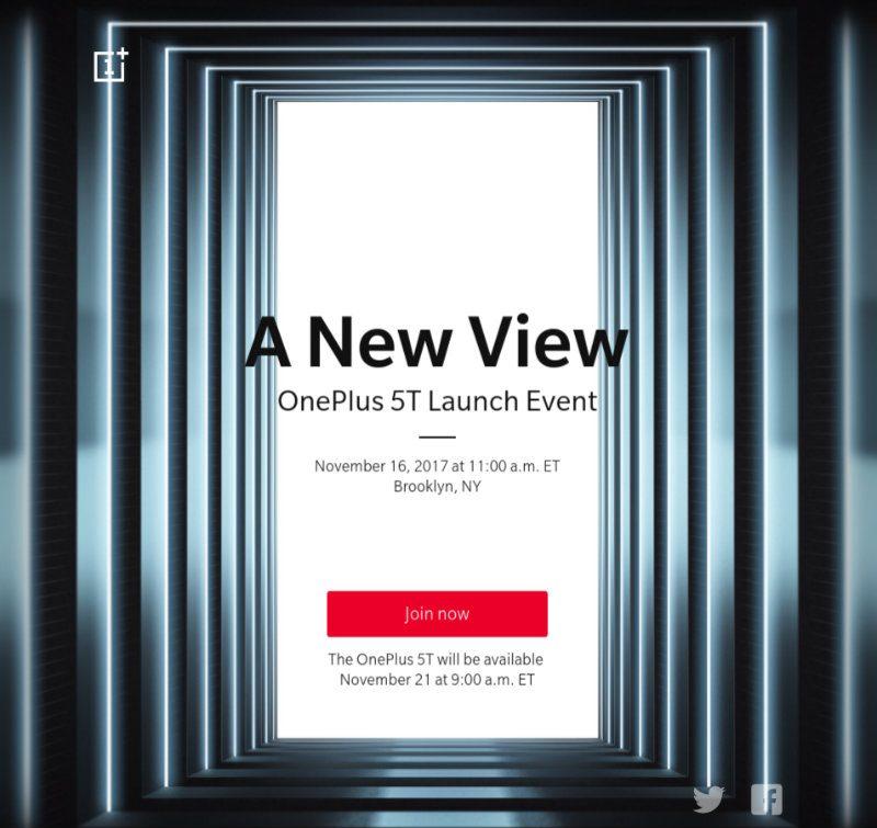 OnePlus 5T Invite