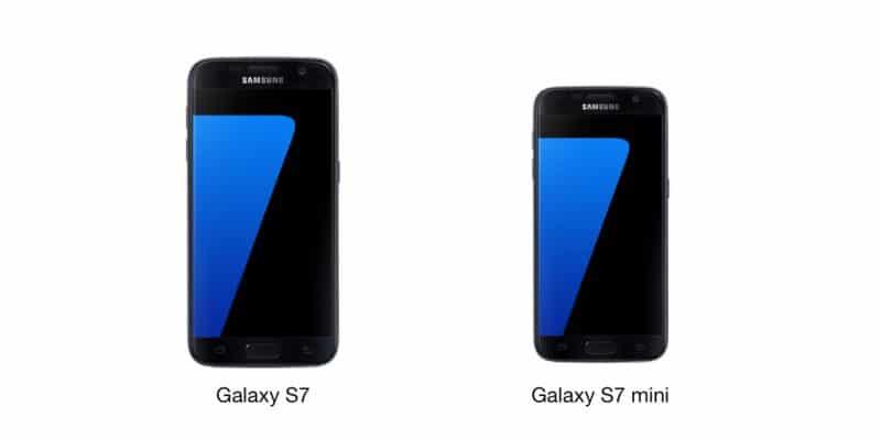 Samsung Galaxy S9 mini in size s7 mini