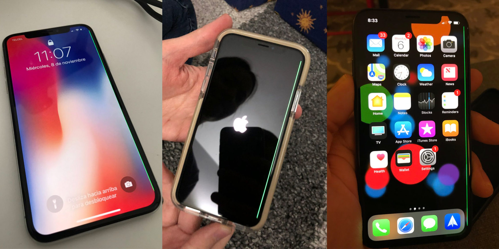 iPhone X Green Line
