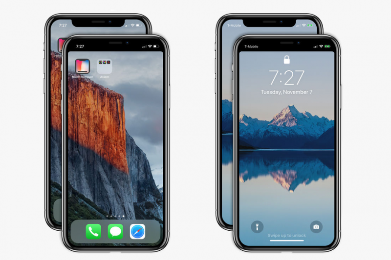 iPhone X Notch Removed