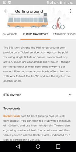 UX UI Google trips Getting around