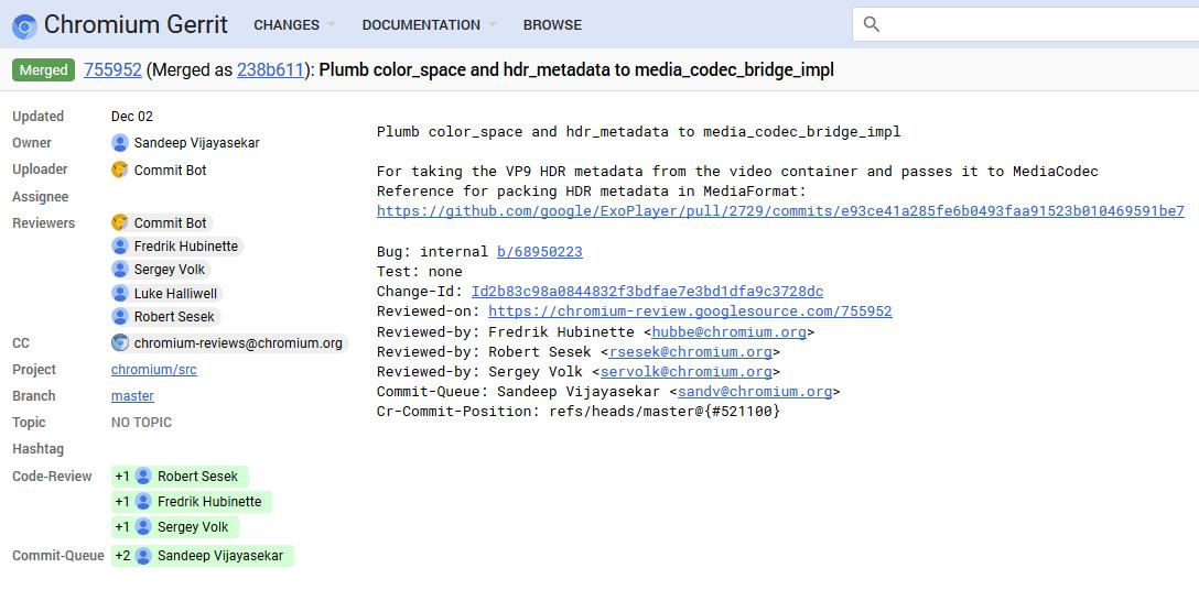 Google Chrome HDR Beta