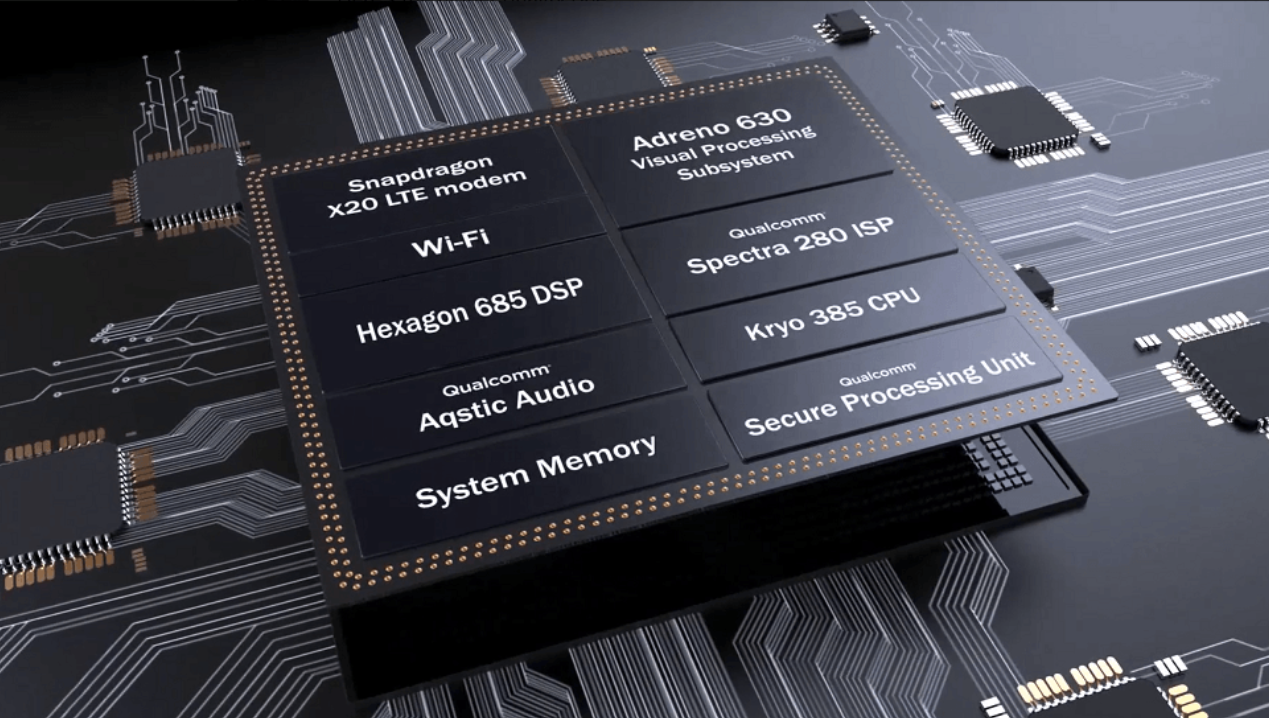 Qualcomm Snapdragon 845 components