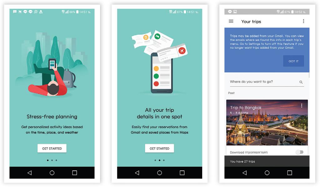 UI Google Trips