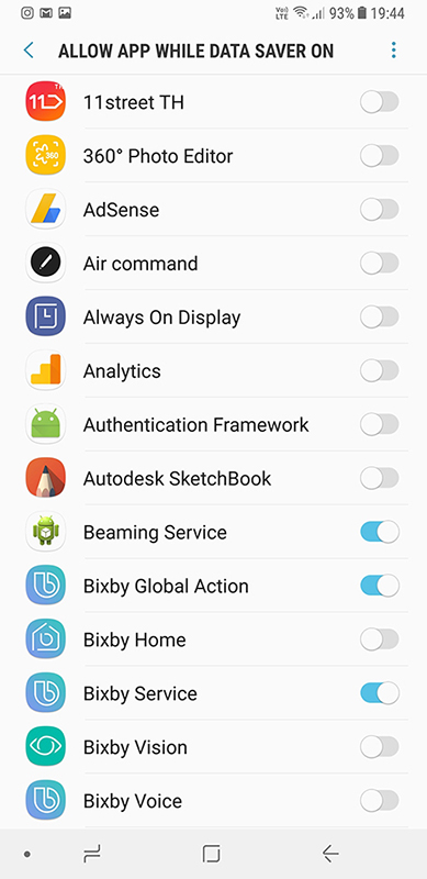 allow app while data sever on