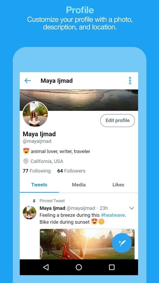 Twitter Lite Profile