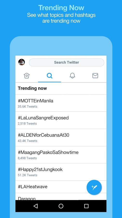 Twitter Lite Trending