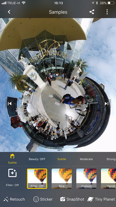 Insta360 One share