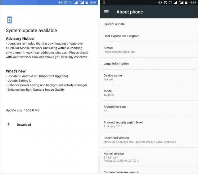 Nokia 6 Oreo Android 8.0 Oreo Update