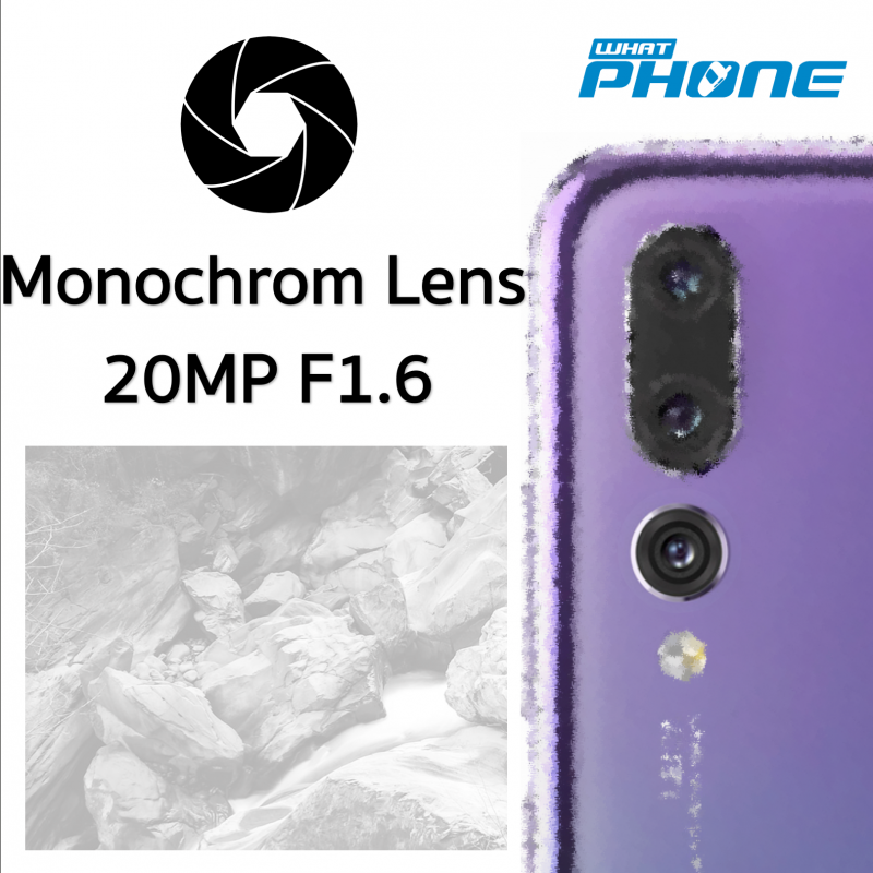 Huawei P20 Pro Triple camera Monochrom Lens