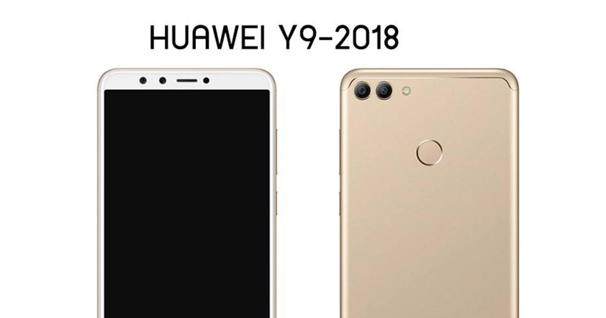 Huawei-Y9-2018-gold-render feat