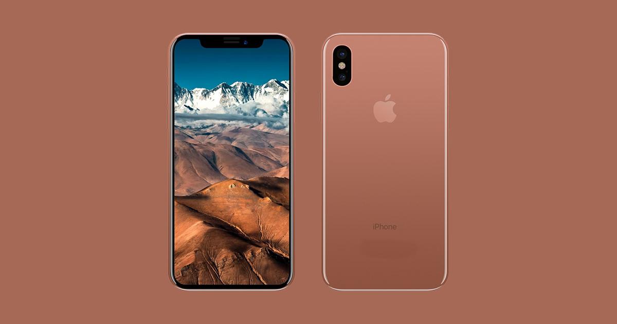 Apple iPhone X Blush Gold - 1