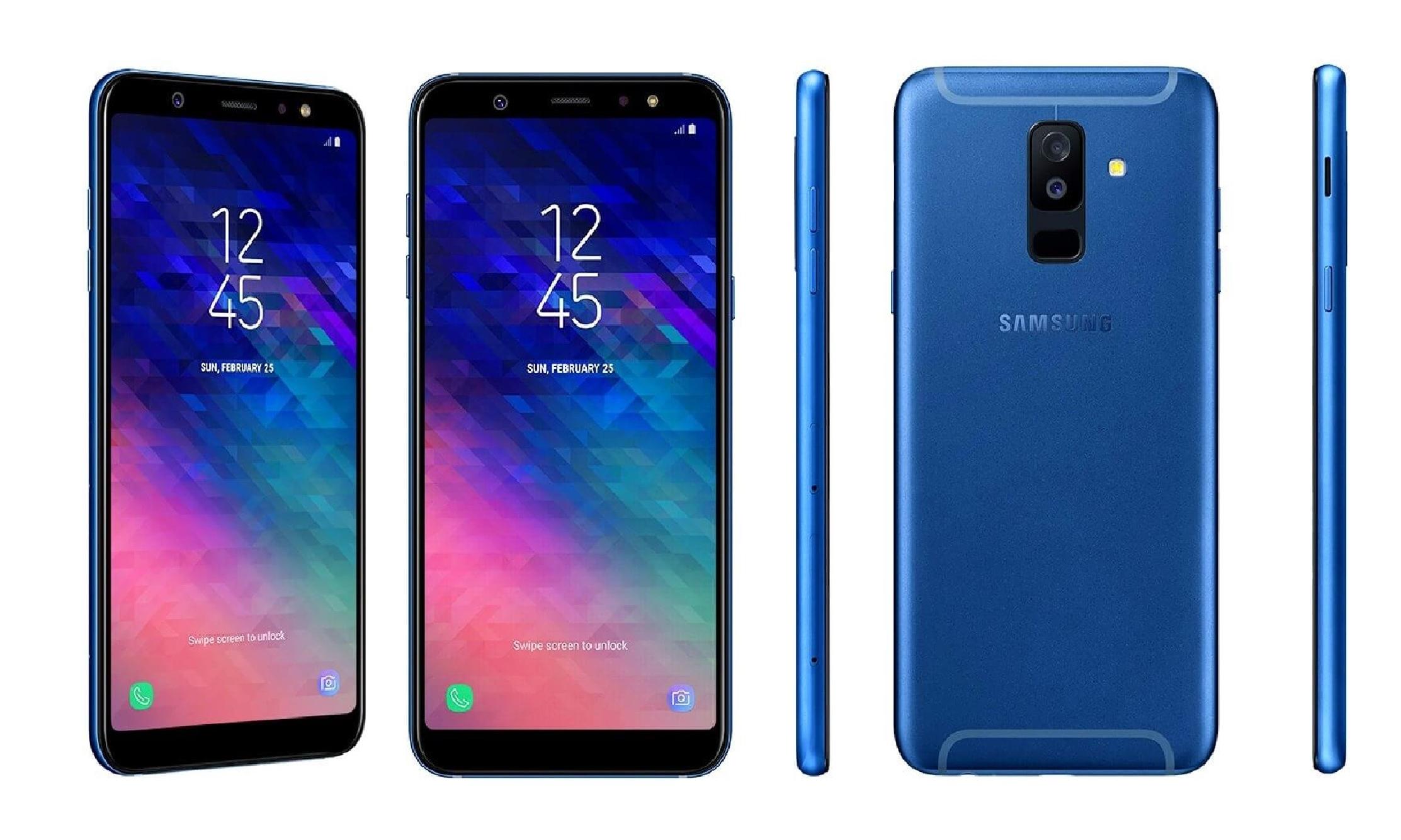Samsung Galaxy A6 Plus Render Blue leak