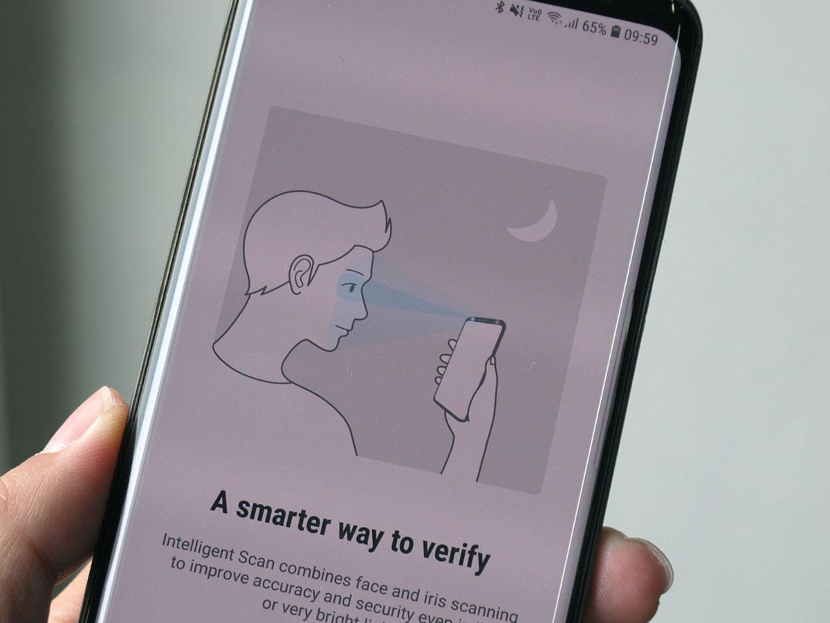 เปิดใช้งาน Intelligent Scan บน Samsung Galaxy S9, S9+