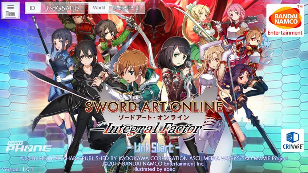 Sword Art Online : IntegralFactor Status