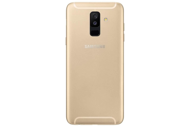 Galaxy A6 Plus Gold Back Rear Dual Camera