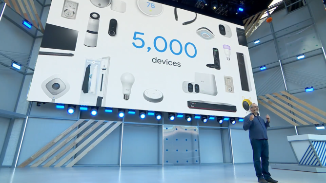 Google Assistant 500m device at Google IO