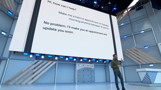 Google Assistant at Google IO 2018