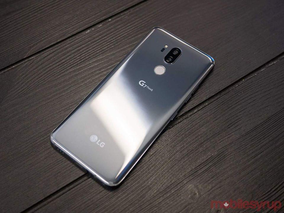 LG G7 ThinQ Back Silver – 1