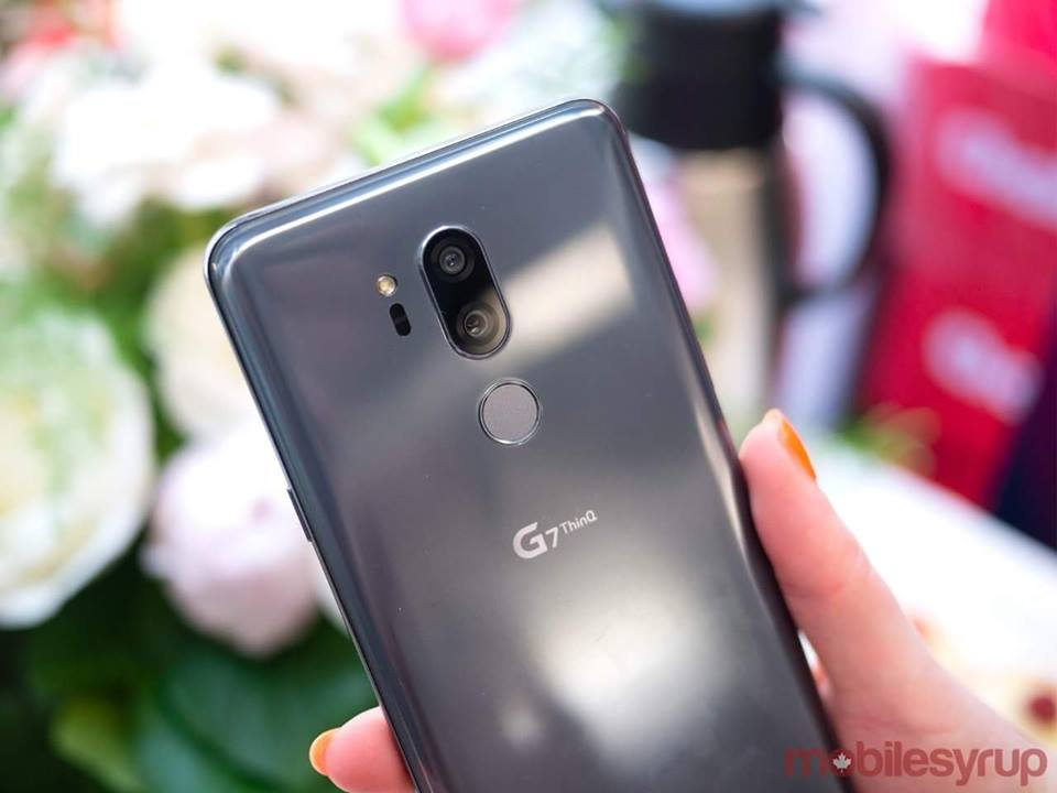 LG G7 ThinQ Back Silver – 2