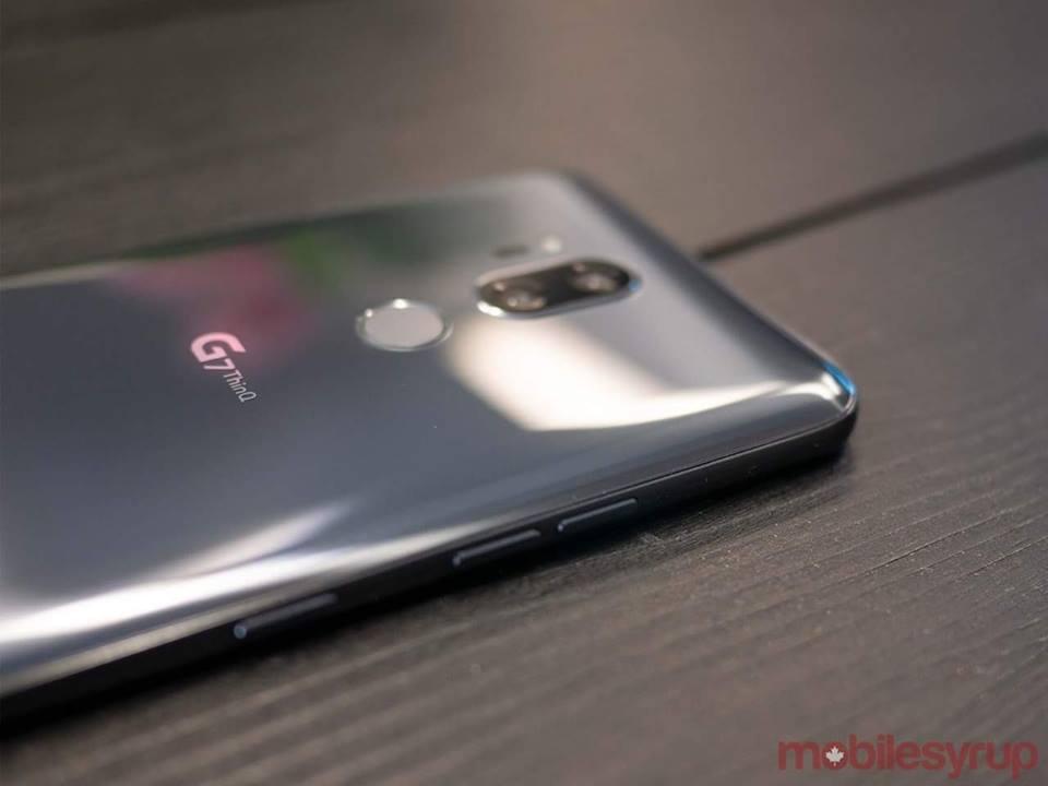 LG G7 ThinQ Back Silver – 3