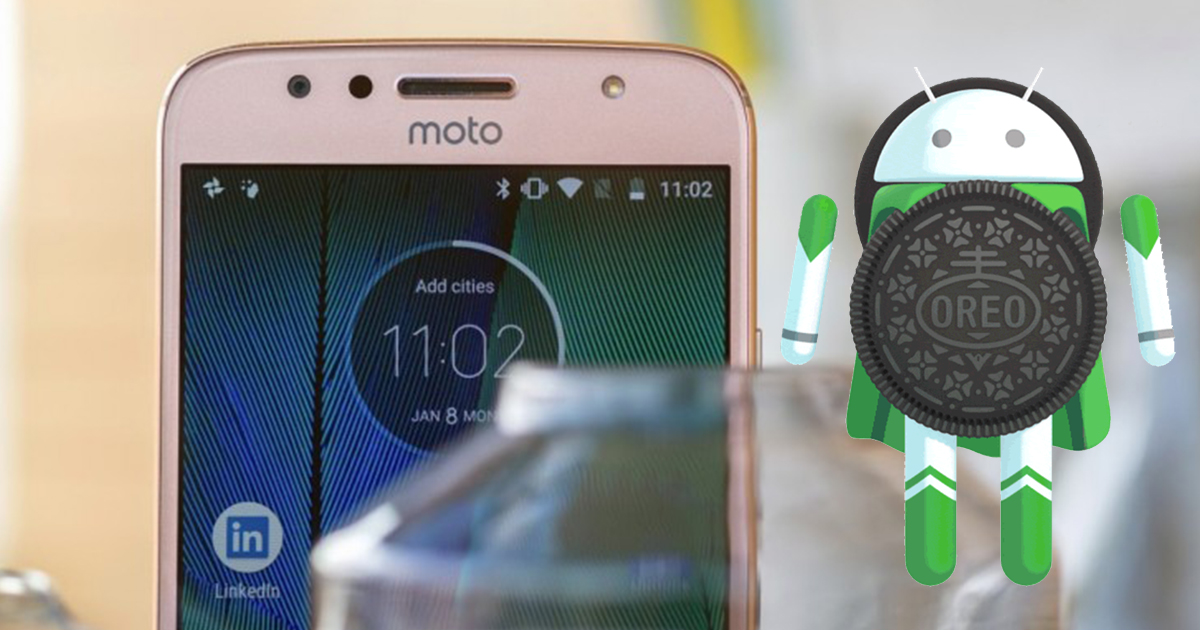 Moto G5s Plus Android 8.1 OREO Front Gold